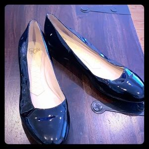 Black patent leather sole shoes